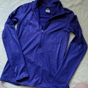 Nike Pro Dri-Fit Purple Half Zip Up